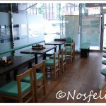 Japanese Fast Food Restaurants in Tokyo| Nakau; interior, custoers area, tables