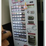 Japanese Fast Food Restaurants in Tokyo| Nakau; ticket vending machine and its menu on buttons